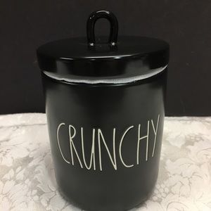 Rae Dunn Black Canister Small